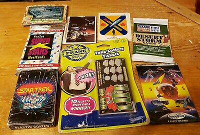 Junk Drawer Big Mixed Lot Of Playing Cards & Trading Cards & Stickers Star Trek+
