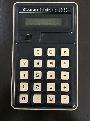 Vintage Canon Palmtronic LD-80 Calculator Working