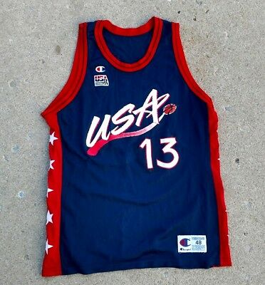 4e578fe4cb042 Vintage VTG Dream Team USA Shaquille ONEAL NBA CHAMPION Basketball Jersey  sz 48