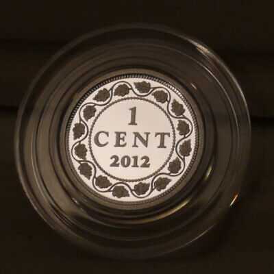 """2012 Canada Silver Proof 1 Cent Penny (1908-1910) - From The """"Farewell"""" Set"""