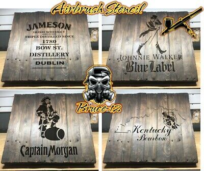 Maker/'s Mark Whisky  Airbrush stencil 1 layer PICK YOUR SIZE Reusable  Barrel