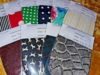 Fab Lightweight Elbow Patches In Washable Fabrics - Upcycle Your Clothes