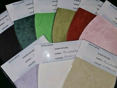 STUNNING FAUX SUEDE 11 FAB COLORS SUEDETTE ELBOW PATCHES//TRIMMINGS