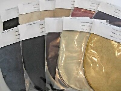 Stunning 100% Real Suede Oval Elbow Patches / Trimmings - Assorted Colors