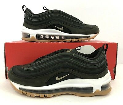 low priced 56c2f 2f6a4 Nike Women s Air Max 97 UT Sequoia Neutral Olive AJ2248-300 Size 6