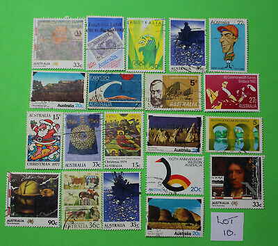 Vintage Bulk Lot 20 Australian Decimal Stamp Mixed Group Used 1970's - Lot10 419