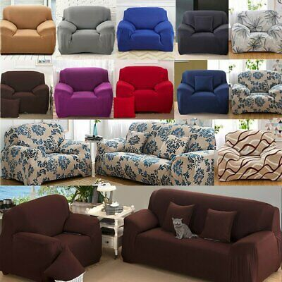 1 2 3 4 Seater Protector Stretch Sofa Couch Slip Cover Lounge Dining Chair Cover