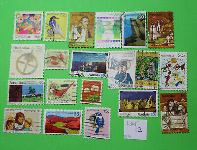 Vintage Bulk Lot 20 Australian Decimal Stamp Mixed Group Used 1970's - Lot12 419