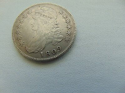 1809 50C Capped Bust Half Dollar