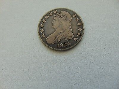 1824 50C Capped Bust Half Dollar