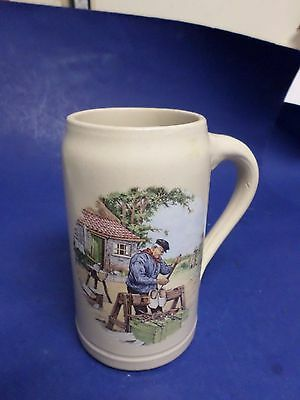 84 Ter Steege Bv, Holland, 7-3/-4 Tall, Heavy Stein-Mug, Hand Decorated, Crown,