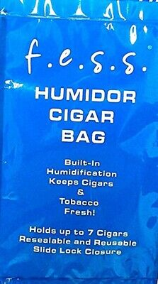 Fess Zip Cigar Herb Travel Bag Humidor w/built in Humidifier - Reusable