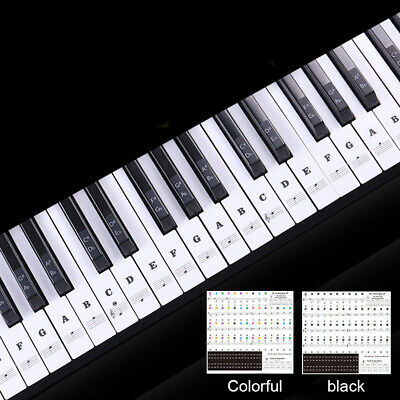 37/49/54/61/88 Key Music Keyboard Piano Stickers Set Removable Note Label Useful