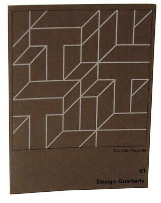 Judith MILLER / DESIGN QUARTERLY 61 THE 13TH TRIENNALE First Edition #119909
