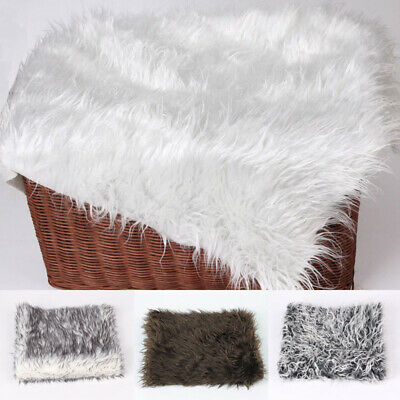 Newborn Baby Long Hair Faux Fur Stretch Wrap Photography Photo Prop Blanket Rug