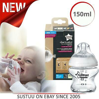 Tommee Tippee Closer to Nature Glass Bottle 150ml Natural Baby Feeding +0Months