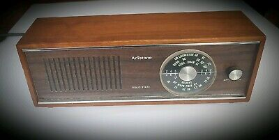 Vintage Aristone Solid State Radio AM working radio with power cord.
