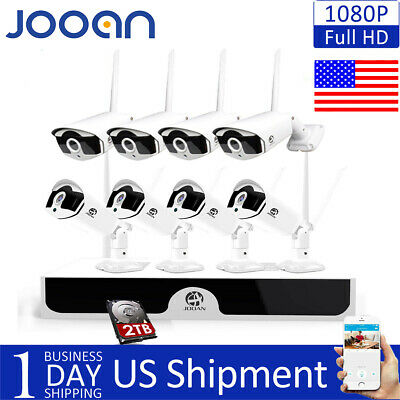JOOAN 8CH 1080P Wireless NVR Home Outdoor WIFI IP Camera CCTV Security System