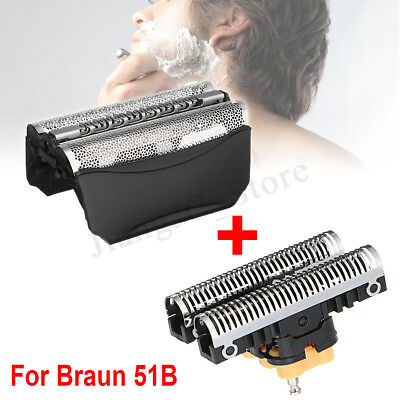 Shaver Foil Replacement + Shave Cutter Blade For Braun 51B wfs1 wfs2 530 550