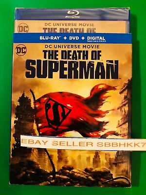 The Death of Superman Blu-ray + DVD + Digital HD & Slipcover Brand New Free Ship