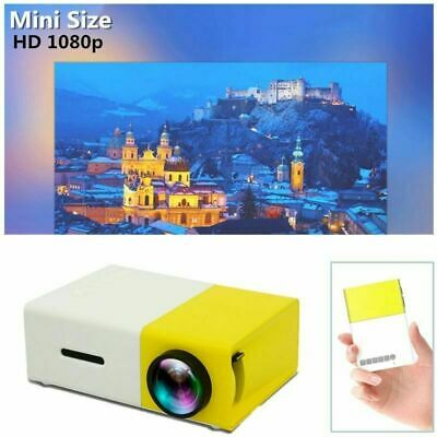 2019 Mini Pocket LED Video Projector Portable Full HD 1080p Home Cinema HDMI USB