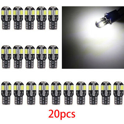 20Pcs T10 8Smd 5730 Led Lights W5W Car Wedge Tail Side Bulbs Reading Lamps JDUK