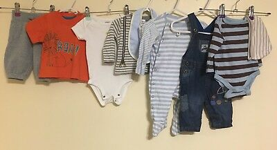 Baby Boys Bundle Of Clothing Age 0-3 Months Next Gap Mothercare <D1096