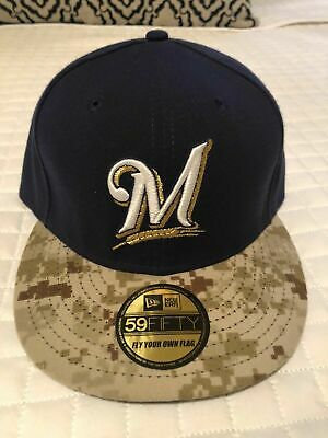 new product 5251d 7b1a5 New Era 59fifty Milwaukee Brewers Sz 7 1 2 BRAND NEW cap hat