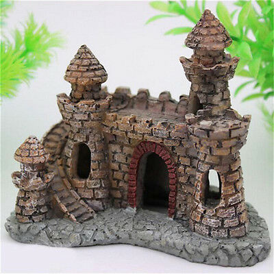 Polyresin Tower   Aquarium Ornament Fish Tank Decoration Accessories Zd