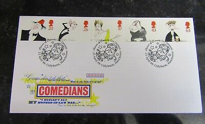 1988 First Day Cover Comedians SHS Postmark (cbb)