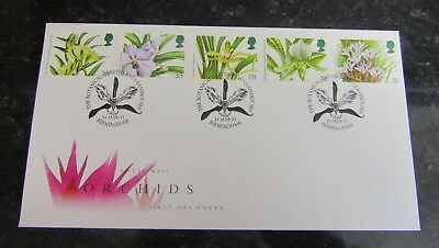 1993 First Day Cover 14th World Orchids Conference Glasgow SHS Bureau Postmark