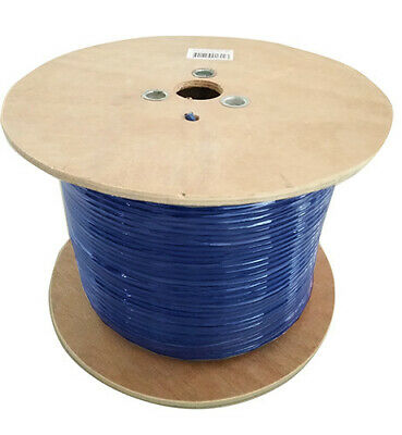8Ware Cat 6A Underground External Network Ethernet Cable 350m Roll in Blue