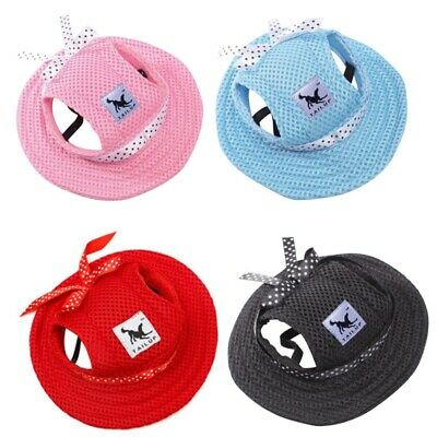 Outdoor Topee Summer  US Pet Dog Puppy Baseball Visor Hat Peaked Cap Sunbonnet