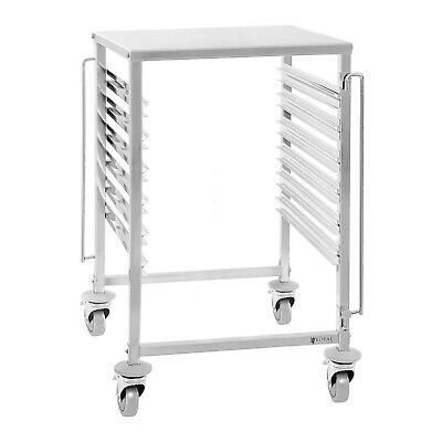 Bakery Bread Trolley Catering Kitchen Wagon Stainless Steel 4 Wheels With Brakes