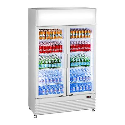 Bottle Fridge Drinks Refrigerator Chiller Beverage Cooler Glass Door 600L