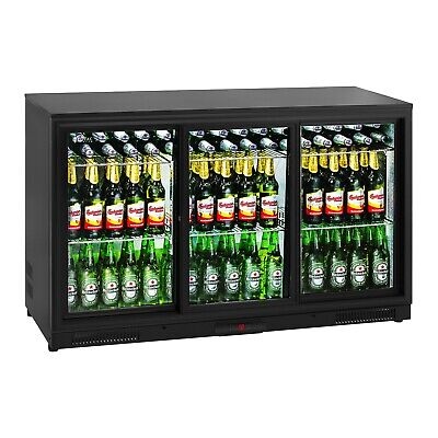 Bottle Fridge Drinks Refrigerator Chiller Glass Door Beverage Cooler 323L