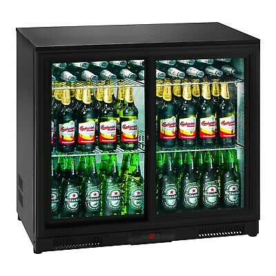 Mini Fridge Drinks Fridge Cooler Bottle Fridge Minibar Fridge Glass Door 208L