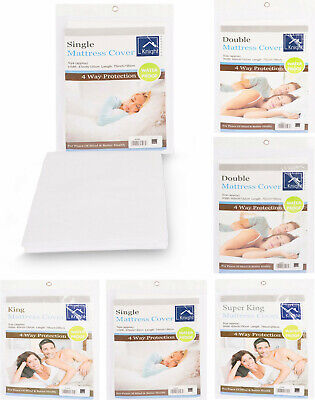 Waterproof mattress fitted mattress protector sheet single, double and king size