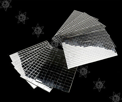 600 Silver Self-Adhesive Mirror Mosaic Tiles Tiling Home Party DIY Decoration
