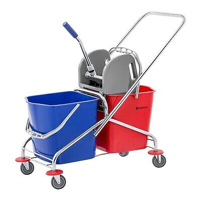 Mop Bucket Wringer Cleaning Trolley Cleaning Mop Holder Hotel Cleaning 48 L