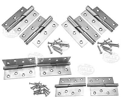 "2pcs 3""/4"" Rising Butt Left/Right Handed Lift Off Door Hinge Stainless Steel"