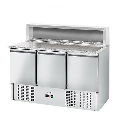 Pizza Cooling TableWorktop Gastro Cooler Saladette Catering Food Display 379 L
