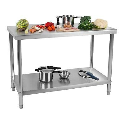 Stainless Steel Kitchen Work Table Commercial Catering Food Prep 120 X 70 Cm