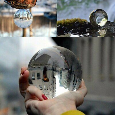 K9 Glass Crystal Paper Weight Magnifying Lens Ball Photo Decor 5/10/12/15cm