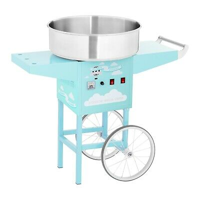 Commercial Candy Floss Machine Cotton Candy Maker With Cart Spit Protection
