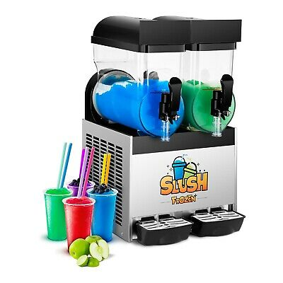 Slush Maker Machine Soft Ice Cream Maker Ice Cream Gastro Slush Ice Led 2 X 15 L