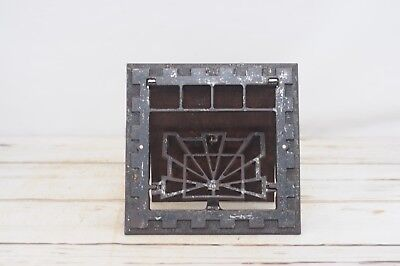 Antique Cast Iron Symonds Art Deco Wall Mount Heat Register Grate Iron Salvage