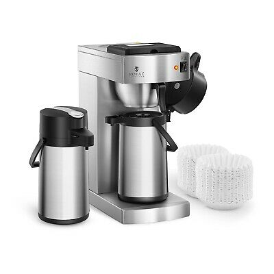 Coffee Maker Professional Coffee Machine 2 Thermos Pots 2.2L 1000 Filters