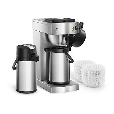 Coffee Maker Professional Coffee Machine 2 Thermos Pump Pots 2.2L 1000 Filters