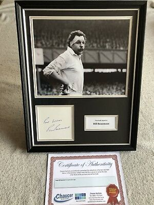 Bill Beaumont Autograph Rugby Legend Display Gift & AFTAL Approved Dealer COA!